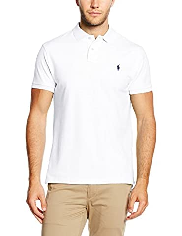 Polo Ralph Lauren SS KC Cmfit Ppc, Polo Homme, Blanc-Weiß (White A1000), (Grande E Capi Di Alto)