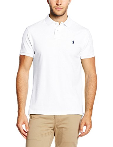 Ralph Lauren Small Logo Shirt, Polo Uomo, White, M