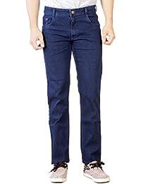 Par Excellence Men's Blue Relaxed Fit Jeans