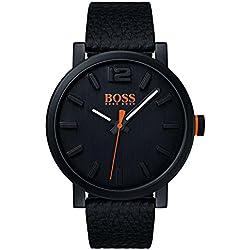 Hugo Boss Orange Homme Analogique Classique Quartz Montre avec Bracelet en Cuir 1550038