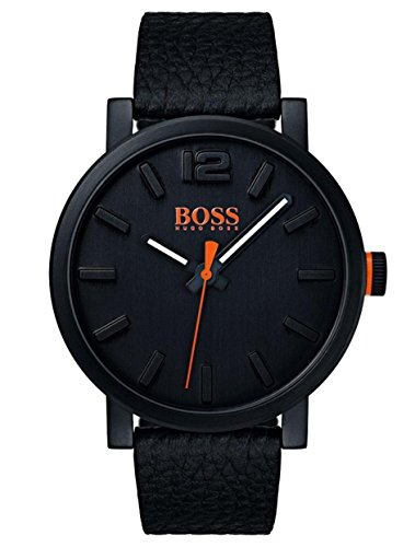 Hugo Boss Orange Herren-Armbanduhr Quarz mit Leder Armband 1550038