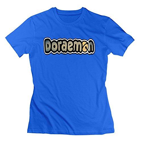 Nana-Custom Tees  Damen T-Shirt Gr. xl, Schwarz - Königsblau