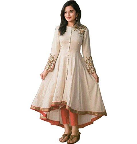 Sai creation Women's Unstitched Silk Dress Material (X44_002_Black_Free Size)
