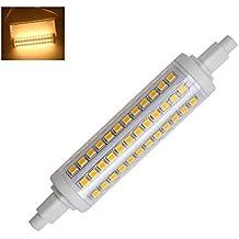 R7S Regulable Bombilla LED 118mm 10W 96 2835 SMD 3000k 360 Grados Equivalente 80W Proyector Halógenas (Blanco Cálido )