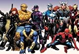Iron Man Comics Thor Spiderman Captain America veuve Beast The Thing Marvel Comics Hawkeye Mouse Pad, Mousepad (25,9 x 21,1 x 0,3 cm)