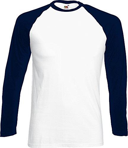 Fruit of the Loom Herren, Regular Fit, T-Shirt, Baseball Weiß