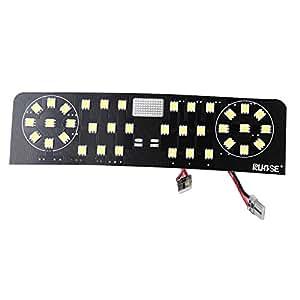 Rupse 8Pcs LED Plafonnier Lampe de Lecture Voiture Auto Intérieur Lumières Décoratives pour Volkswagen PASSAT B7 EU