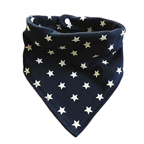 Longra Baby Dreieckstuch Lätzchen , Baby Tuch Schal Fütterung Kittel Lätzchen Spucktücher ( 0-1 Jahre) (Navy) (Stricken Staat)
