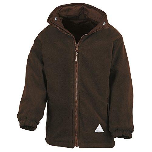 Result Junior/youth reversible StormDri 4000 fleece jacket Brown/ Brown 2XS Youth Reversible Jacket
