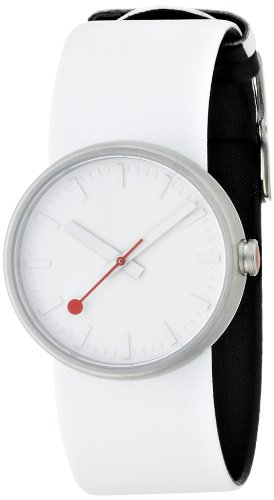 Mondaine Mondaine Bold Women's Quartz Watch with White Dial Analogue Display and White Leather Strap A6583030616SBA