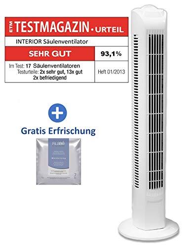 *Interior TF35 Säulenventilator Turmventilator 78cm, 3 Stufen Standventilator, Oszillierender Boden Ventilator, Lautstärke max. 49dBA, 45 W, weiss*