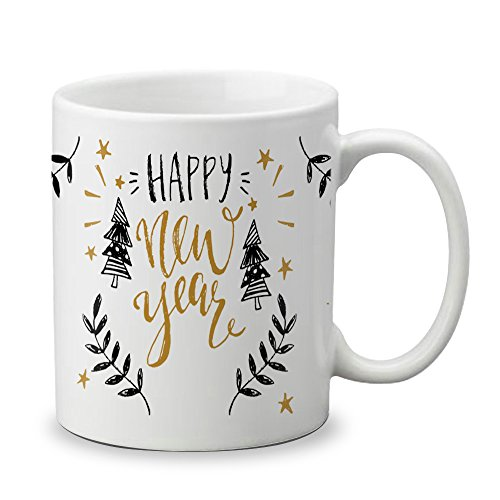 LOF Happy New Year Gifts For Best Friends and Family Ceramic Coffee Mug