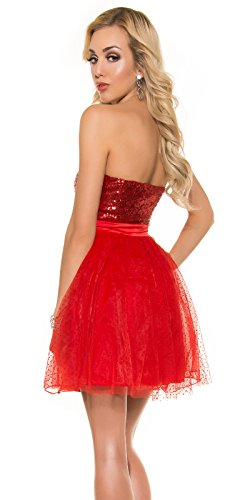In-Stylefashion - Robe - Femme rouge Rot 10 Rouge