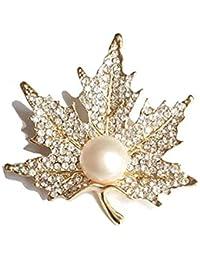 Jewelry & Watches Adroit Pin Spilla Spilla Gufo Bianchi Verde Pietre Colori Dorati