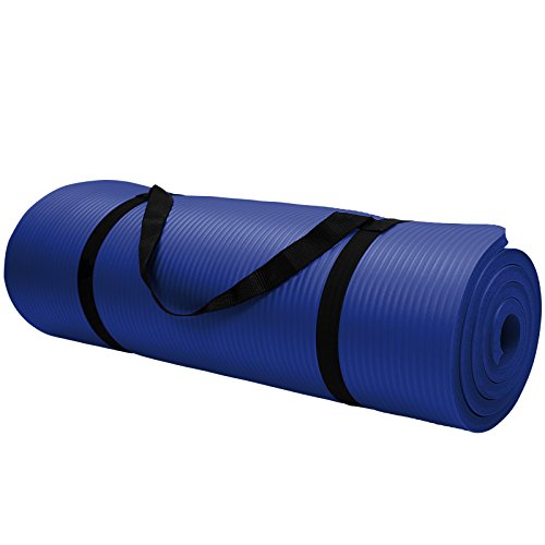 Yoga-Matte in vielen verschiedenen Größen und Farben rutschfest phthalatfrei für Gymnastik Turnen Pilates extra dick, Farbe:Balance Blue;Maße:180 x 60 x 1.5 cm