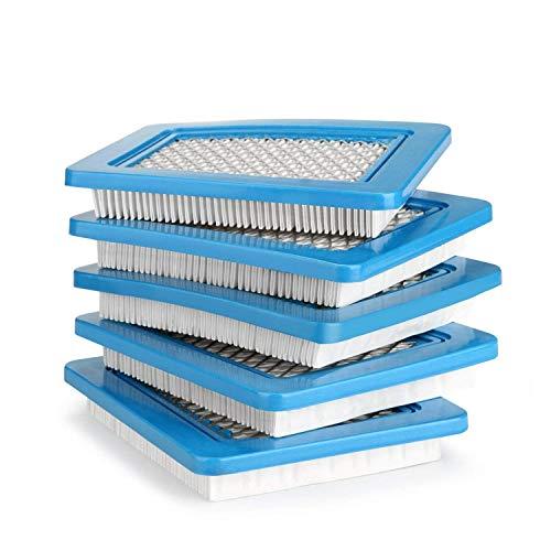 AGPTEK 5er Pack Luftfilter für Briggs Stratton Quantum 491588 491588 4915885 399959 Premium Dauerhafter Ersatzluftfilter passend für Briggs Stratton - EINWEG