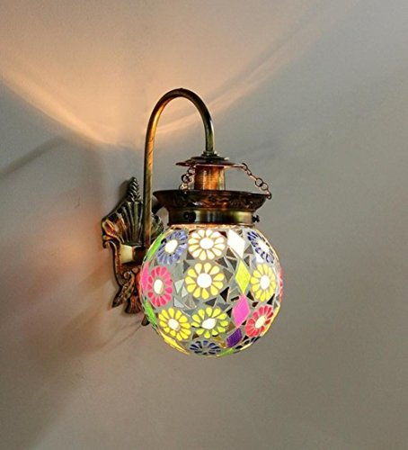 The Brighter Side Good Premium Quality Modern Colourful multicolored mosaic wall light for Room Office Home Decor