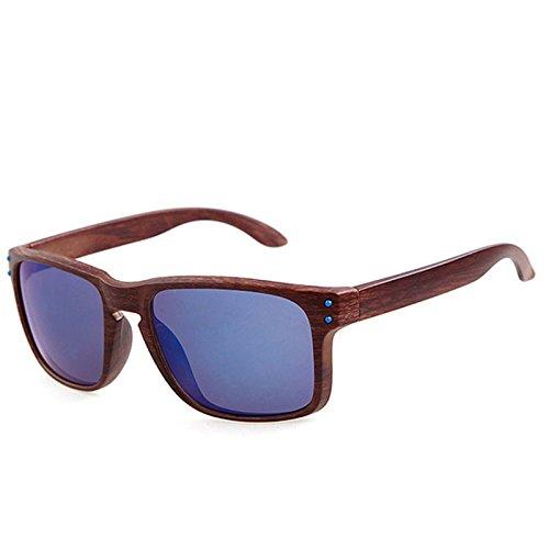 61c0f09685 attachmenttou Gafas de sol de madera con textura UV400 gafas de sol con  espejo para mujeres