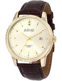 August Steiner Hombre Diamond automática correa vestido reloj