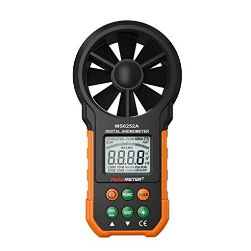 Idyandyans PEAKMETER MS6252A Handdigital-Anemometer LCD-Hintergrundbeleuchtung Air Windgeschwindigkeit Geschwindigkeitsmessgerät -