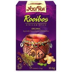 Lot de 10 sachets de thé Yogi- Thé - Rooibos African Spice - 17 sachets - Lot de 10