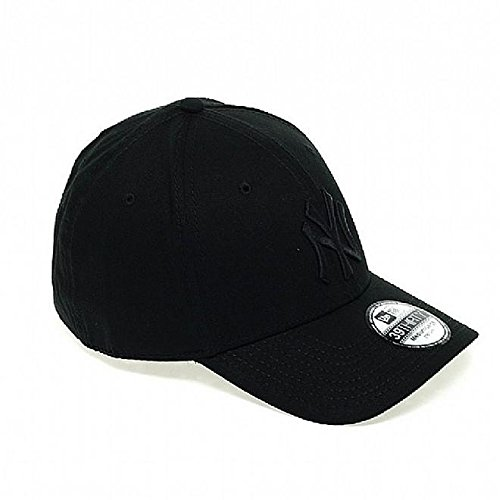 New Era Herren Baseball Cap Mütze M/LB Basic NY Yankees 39Thirty Stretch Back, Black/ Black, L/XL, 10145637