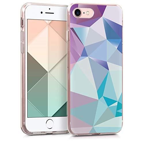 kwmobile Apple iPhone 7/8 Hülle - Handyhülle für Apple iPhone 7/8 - Handy Case in Hellblau Rosa Blau