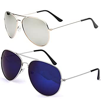 d8ed15cc0a0 ... Spectacle Frames · Sunglasses  SHEOMY COMBO OF STYLISH GOLDEN SILVER  MERCURY AVIATOR AND SILVER BLUE MERCURY
