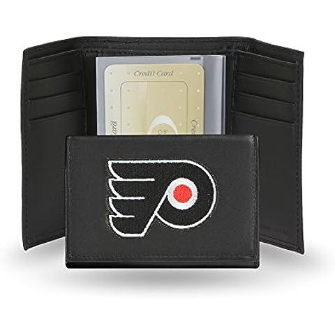 Rico Sporting Goods 138743 Philadelphia Flyers Men's, in pelle, colore: nero-Portafogli tre pieghe