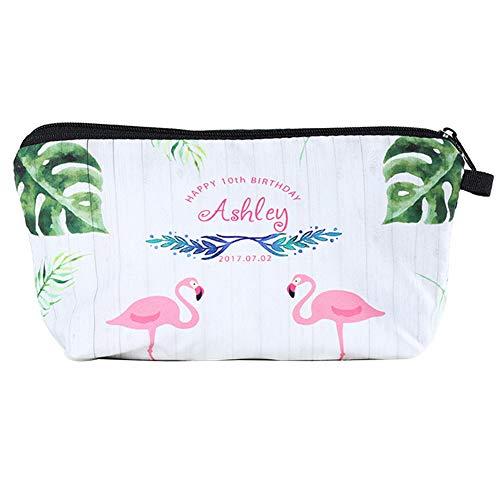 Originaltree Fashion Flamingo Stampa Travel Storage Pouch Zipper Donne Trucco Trousse 4#