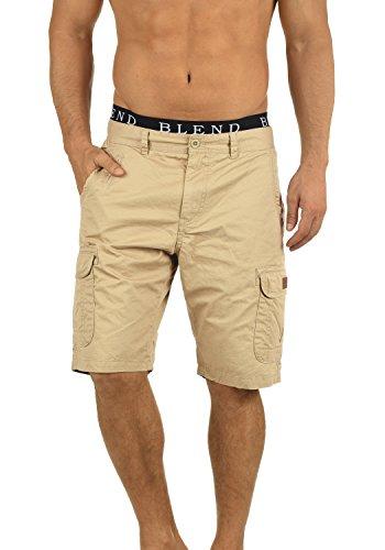 BLEND 20702259ME Crixus Cargo Shorts, Größe:L;Farbe:Chalk Stone (70032)
