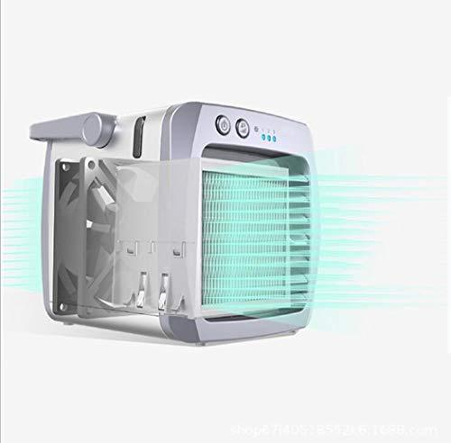 Persönlicher Luftkühler mit USB-Aufladung, 3 in 1 tragbarer Mini-Klimaanlagenlüfter, Luftreiniger und Luftbefeuchter, Desktop-Lüfter für das Home Office, 3 Geschwindigkeiten