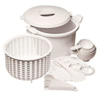 Prep Solutions by Progressive Microwaveable Rice and Pasta Cooker, 17 Piece Set - 12 Cup Capacity