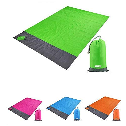 Voiks Outdoor Picnic Blanket with Waterproof Backing - 140 x 200 cm...