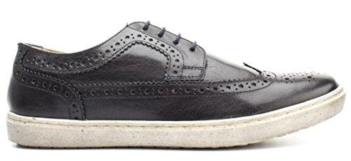 Base London Sneaker Uomo Empress Stringata Leather Softy Navy-45