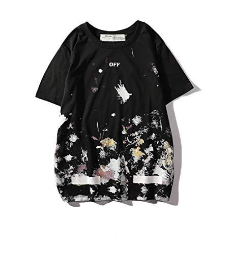 5638947902a3bc Off Galaxy Full Body Fireworks Short Sleeve t Shirt Black Men Women