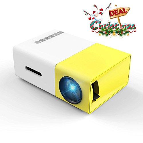 Mini Video Projektor, Meer YG300 1080P Full HD für Handy Beamer Tragbarer Vollfarb LED LCD Projektor für Xbox PS4 PC Laptop TV Kopfhörer Filme