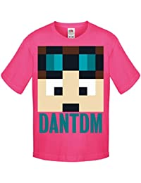One Stop Kids Dan TDM Or Stampy Cat Short Sleeve T-Shirt Boys Girls Unisex Top