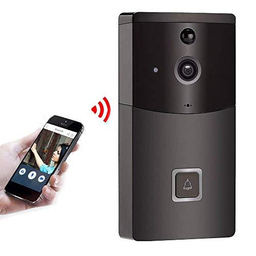 ZLMI WiFi HD Ring Video Doorbell, Wireless Video Real Time Intercom PIR Intelligent Motion Detection Alarm Monitor, geeignet für Villa, Home, Office Doorbell Intelligente Motion-detection
