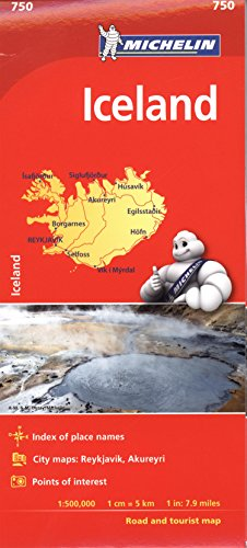 Michelin Iceland Map 750 (Michelin Map) por Michelin Travel