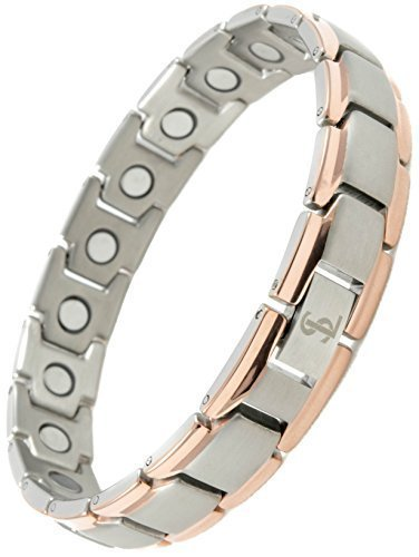 ef1884a5911 Smarter Lifestyle Elegant Titanium Magnetic Therapy Bracelet Pain Relief  for Arthritis and Carpal Tunnel