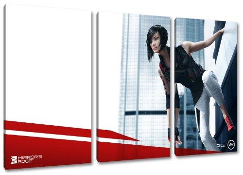 mirrors edge 2 3-teilig auf Leinwand- Gesamtformat: 120x80 cm fertig gerahmte Kunstdruckbilder als Wandbild - Billiger als Ölbild oder Gemälde - KEIN Poster oder Plakat