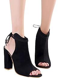 Sandalias Mujer Verano ❣JiaMeng Zapatos de Mujer Plataforma Sandalias para Mujer Tobillo Correa Peep Toe