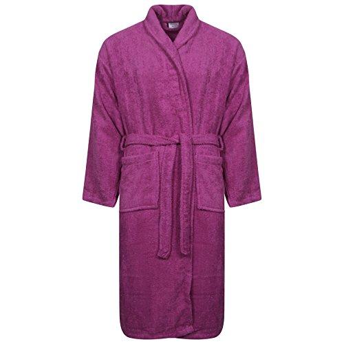 Peignoir classique pour femmes et hommes Taille, nombreuses couleurs à la mode Morgenmantel Saunamantel Coton terry avec capuche de la série Föhr Collier Pourpre