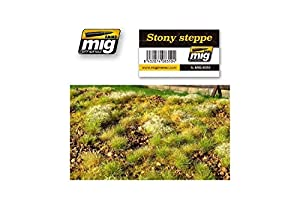 AMMO MIG-8350 Stony Steppe - Alfombrillas para césped, Multicolor