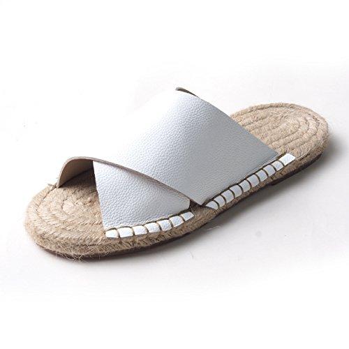 Zyushiz Sapatos Casuais É Que As Pessoas Preguiçosas E Sandálias Confortáveis mão-chinelos Branco