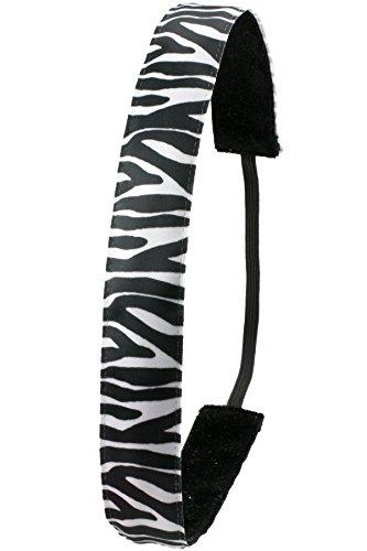 Ivybands Anti-Rutsch Haarband Zebra Schwarz-Weiß, One size