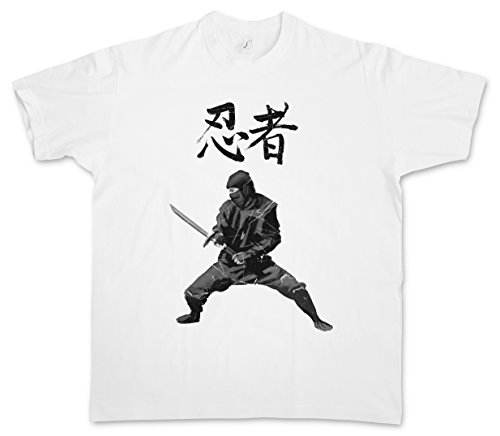 Urban Backwoods Ninja I T-Shirt – Samurai Warrior Way Of Sepuku Banzai Japan Japanese Taglie S – 5XL Bianco