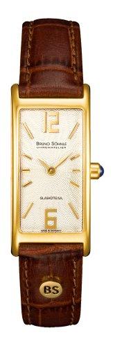 Bruno Söhnle Damen Analog Quarz Uhr mit Leder Armband 17-33088-221