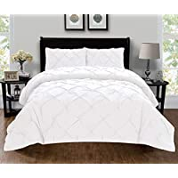 Elegant Comfort Luxury Super King/California King 401RW-Pintuck-Duvet-K-White